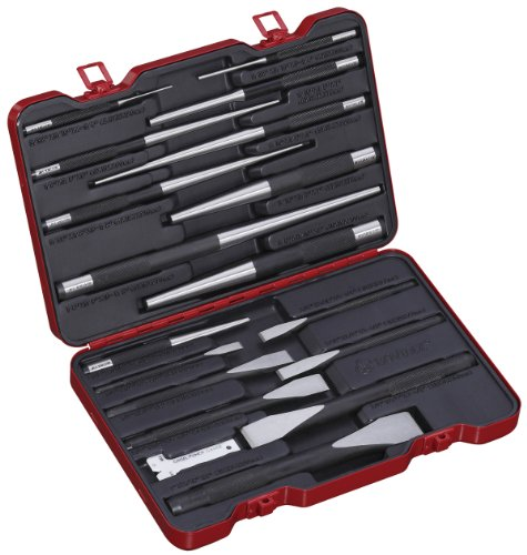 Bovidix 288201901 Flat Cold Chisel with  Pin and  Taper Punch Set, 18-Piece by Bovidix