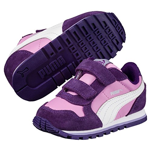 Puma St Runner L V Ps Smoky Grape-Puma White (Kids) 16
