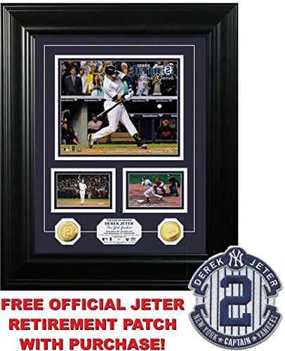 Ret Mint (Derek Jeter Framed New York Yankees ''Final Games'' Gold Coin Marquee Photo Mint with Free Jeter)