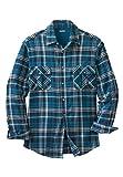 Kingsize Men's Big & Tall Plaid Double-Brushed Flannel Shirt
