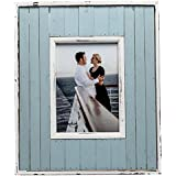 LAG144857 LAGOON Distressed Pale Blue Panel Effect Softwood Photo Frame 5x7 (13x18cm) by Hampton Frames