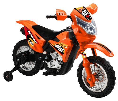 Vroom Rider VR093 Battery Operated 6V Kids Dirt Bike, Orange
