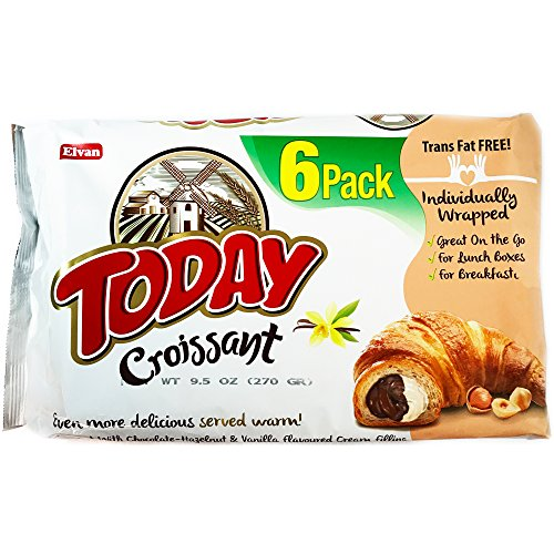Today Soft Croissants 27% Chocolate and Hazelnut & Vanilla Trans Fat FREE! 6 Pack 45 g Each