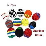 12 Pack Hacky Sack Juggling Balls Set - Fun Colors and Designs for Kids Hackeysacks Carnival Prizes