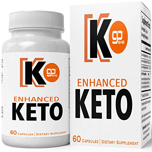 Enhanced Keto Advanced Weight Loss Pills, Extreme Natural Ketogenic Burn Fat Supplement, 800 mg Formula with New True Slim Supplements GO BHB Salts Formula, Appetite Suppressant Capsules