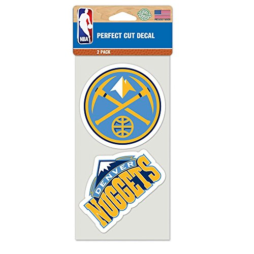 WinCraft NBA Denver Nuggets 48688011 Perfect Cut Decal (Set of 2), 4