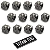 XSPC G1/4 to 10mm ID, 14mm OD PETG Triple Seal Fitting (For use with XSPC PETG Tubing Only), Black Chrome, 12-pack