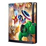Game Sticker Cover Skin for Sony PS3 Slim Console System with Vinyl Decals for Sony Playstation 3 Dualshock Wireless Controller Super Heroes Protect your Console, Gaming with the Cool and Exciting Visual Enjoyment, Show your own Statement