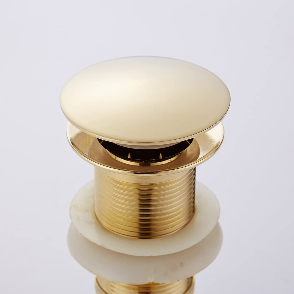 Weare Home Golden Finished Retro Design Pop-Up Valve of Wash Basin Drain Bathroom Sink Drain Made   of high Quality Stainless Steel /& Brass Gold