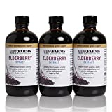 Norm's Farms Black Elderberry Extract 8 Ounce Bottle, Pack of 3