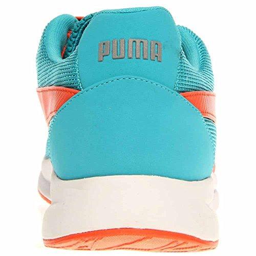 Puma Haast Blonder Menns Blå / Oransje Joggesko Bluebird-tigerlily