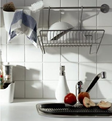 Buy Ikea Bygel Steel Dish Drainer w/ Removable Tray Can Be Hung or ...