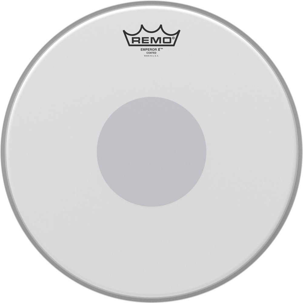 Remo Emperor X Coated Snare Drumhead - Bottom Black Dot, 13