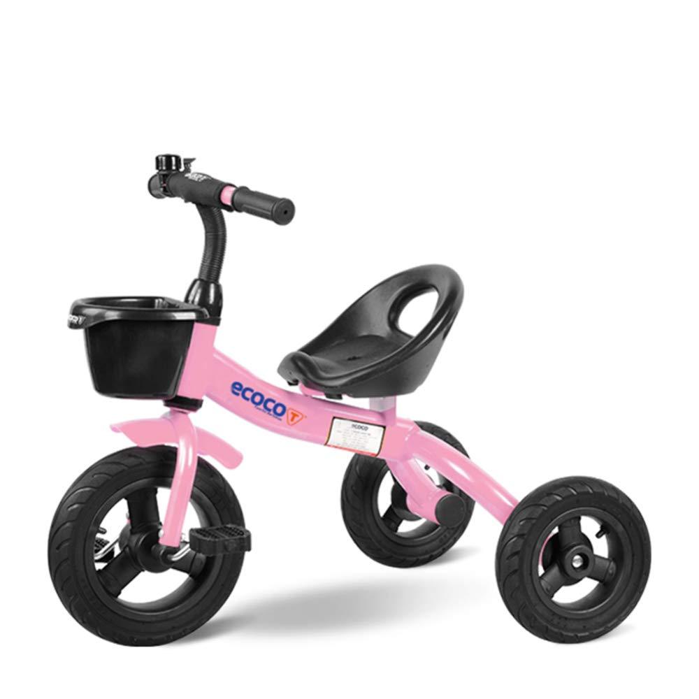 TH - Triciclo para Niños Trike Bicicleta, Diseño De Prevención De Vuelco, Neumático De Aire No Inflable, Asiento Ajustable, 1.5-5 Años De Edad,C