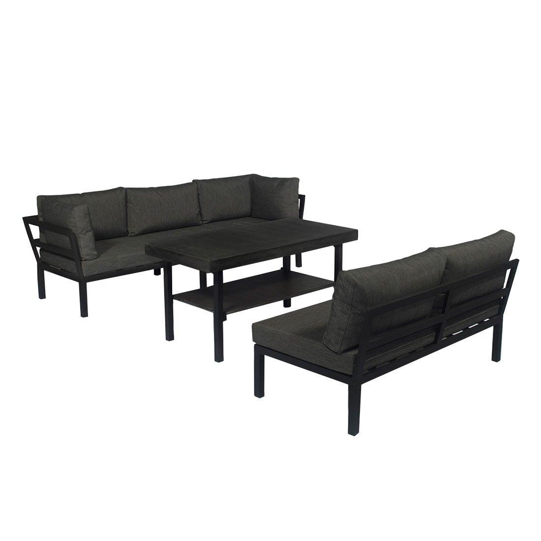 Lounge Set OUTLIV Austin Loungemöbel Alu/Textil 3-tlg Gartenlounge ...
