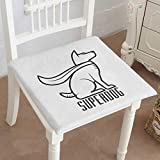 Mikihome Outdoor Chair Cushion Superdog Logo or Label Template Super Dog Hero in