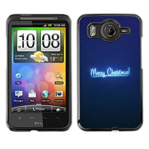 diy phone caseYOYO Slim PC / Aluminium Case Cover Armor Shell Portection //Christmas Holiday Merry Blue 1001 //HTC G10diy phone case