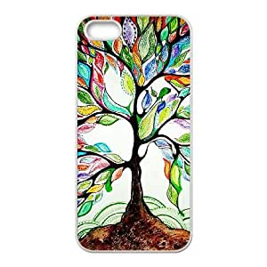 Custom Colorful Case for Iphone 5,5S, Love Tree Cover Case - HL-R658298