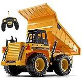 Top Race Remote Control Construction Dump Truck Toy, RC Dump Truck...
