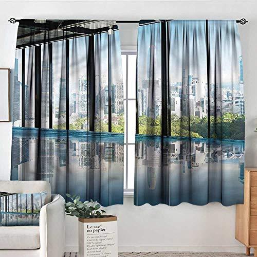 - Sanring Modern,Boys Bedroom Backout Curtains Central Park Forest 42