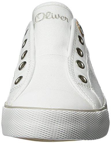 Bianco Ginnastica 24635 S Basse Donna 38 white Da oliver 100 Scarpe 5 5 qvBaU