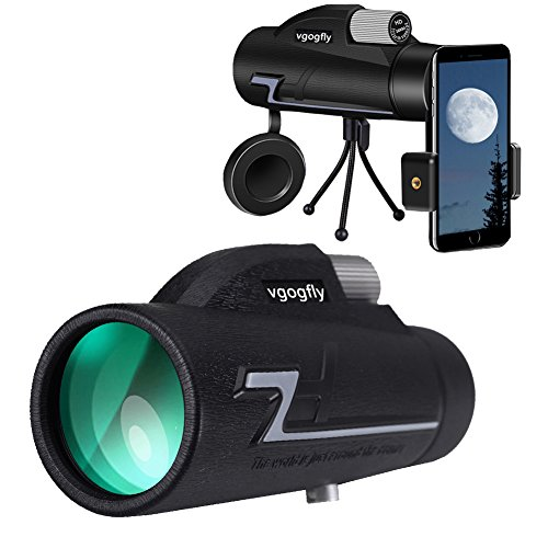 Monocular Telescopes High Power 16x50 Low Night Vision Spotting Scope Binoculars for Adults Bird Watching with Smartphone Photography Adapter Smartphone Hiking Outdoor by Vgogfly