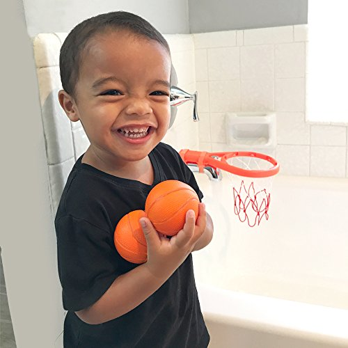 3 Bees & Me Bath Toy Basketball Hoop & Balls Set for Boys and Girls - Kid & Toddler Bath Toys Gift Set by 3 Bees & Me (Image #1)