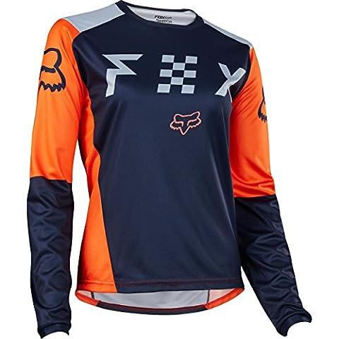 Fox Racing Switch Women's Off-Road Motorcycle Jerseys - Grey/Orange / Small - Women Off Road Jerseys