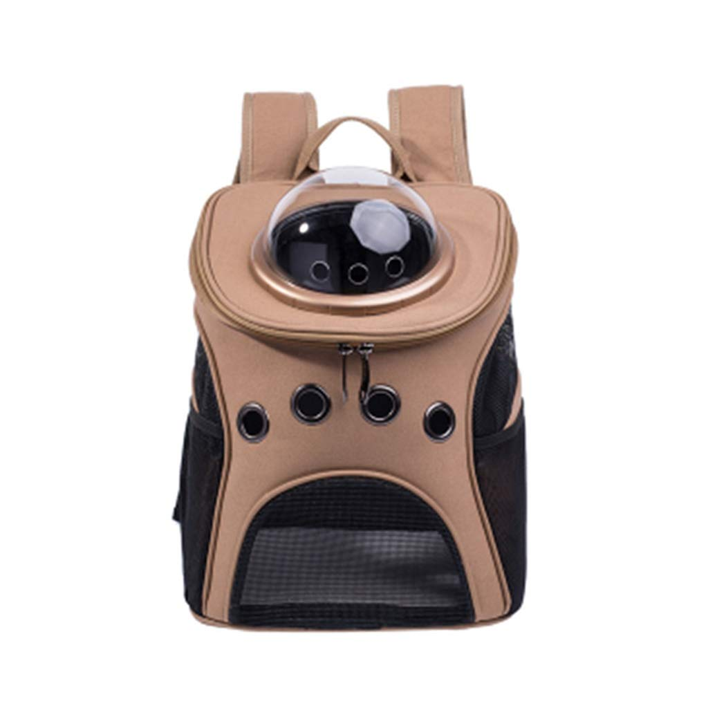 Pet Carrier Bag Pet Backpack Lightweight Breathable Capsule Astronaut Bubble Pet Cat Dog Carrier Waterproof Outdoor Portable Premium Backpack Brown Portable Collapsible