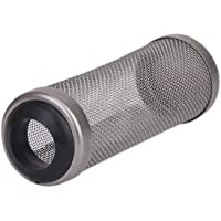 B Blesiya Stainless Steel Flow Fish Filter Guard, Net Filter Mesh Bag Pouch Pipe Strainer Replacement for Fish Farms & Ponds - 1.6cm
