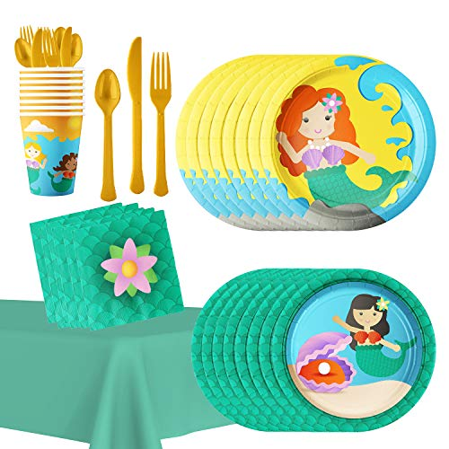 (Under the Sea Mermaid Party Supplies: Hold the Balloon Table Decorations for Birthday, Baby Shower)
