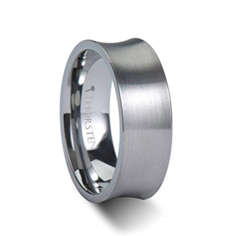 Amazon Tucson Concave Tungsten Wedding Bands For Men With Brushed Finish 8mm Free Engraving Jewelry: Concave Brushed Wedding Band At Websimilar.org