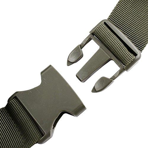 eDealMax Nylon Outdoor Sport Camping Zip Up 4 Vano regolabile supporto del telefono del sacchetto Della vita dell'esercito Verde by eDealMax (Image #3)