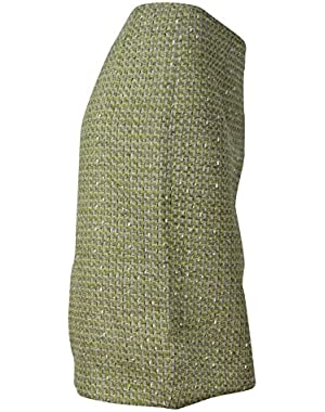 Women's Metallic Flecked Tweed Woven Pencil Skirt