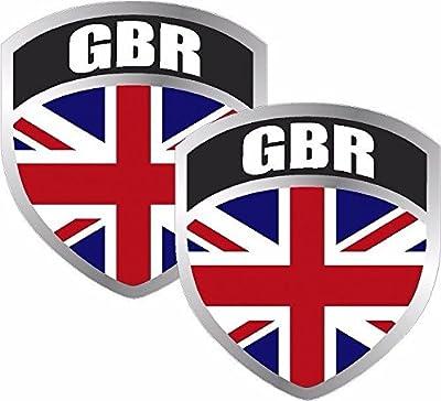 "MAGNET 2 - 3"" Britain Union Jack UK Flag Shield Decal SET Badge British great Kingdom"