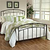 Hillsdale Furniture 1545BQR Morris Bed Set with Rails, Queen, Magnesium Pewter
