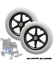 JTGPFC 12 inch achterwiel voor handmatige rolstoelen - 12 mm kogellagers, vervangende wielen voor handmatige rolstoelen, stilte, anti-slijtage & antislip (kleur: grijs, maat: 12inch/30cm)