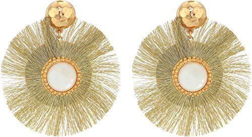 Lilly Pulitzer Women's Fan-Tastic Earrings Gold Metallic One Size