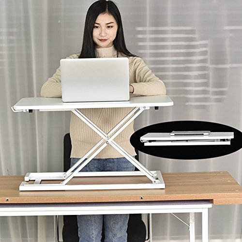 Xiaolin Table Stand-up Office Computer Desk Folding Table Liftable Notebook Stand Bracket Work Station Stand Office Table Mobile Desk Simple and Modern Stand-up Desk Lazy Desk Release The Spine Stan