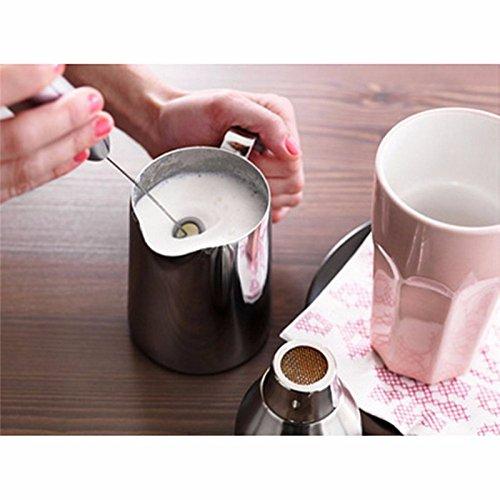 Lumanuby 1x Electric Milchaufsch/äumer f/ür Latte Kaffee Heisse Milchgetr/änke Plastik und Edelstahl Milchschaum R/ührbesen Zuf/ällige Farbe