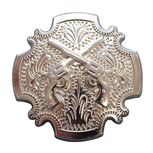 HILASON 1 Piece Cross Gun Shooting Concho Bling Silver Headstall Saddle Cowgirl