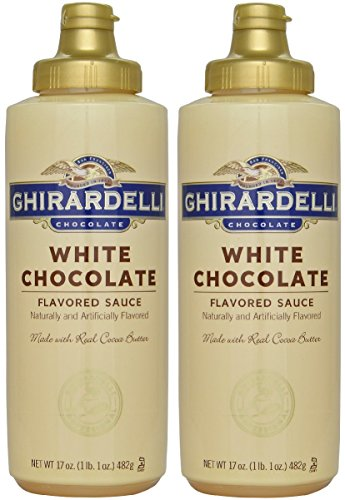 Ghirardelli White Chocolate Sauce 17oz Squeeze Bottle (Pack of (2 Pack Chocolate)