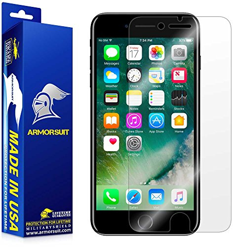 iPhone 7 Screen Protector ArmorSuit MilitaryShield Lifetime Replacements - Full Coverage Anti-Bubble...