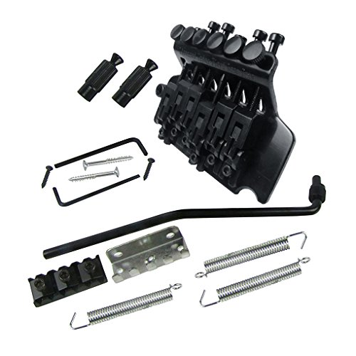 IKN Floyd Rose Lic Double Locking Tremolo Guitar Bridge Assembly System Electric Guitar Parts, Black