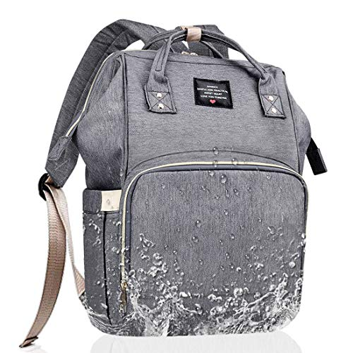 Aprince Baby Diaper Bag Large Capacity Mummy Bag with Pockets Multi-Function Nappy Bag Nursing Bags Portable Travel Bag Backpack for Baby Lightweight Travel Bag for Baby Care Waterproof (Gray2)