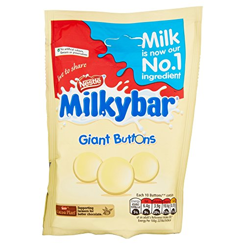 Original Nestle Milkybar Large Giant White Chocolate Buttons Bag Pouch Imported From The UK England