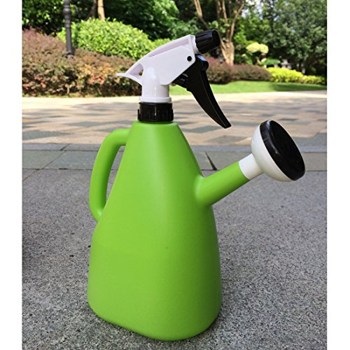 Garden Watering Can, Two Watering Methods Suit for Most Plants,Making fun at Home Garden,Office,long lasting color (Green)