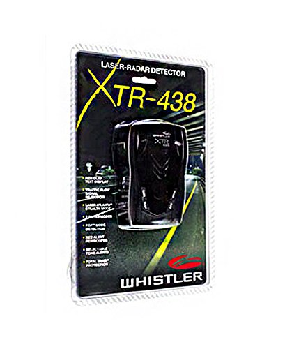 Whistler XTR-438 Laser Radar Detector High Performance 360 Degree Alerts No Dead Zones