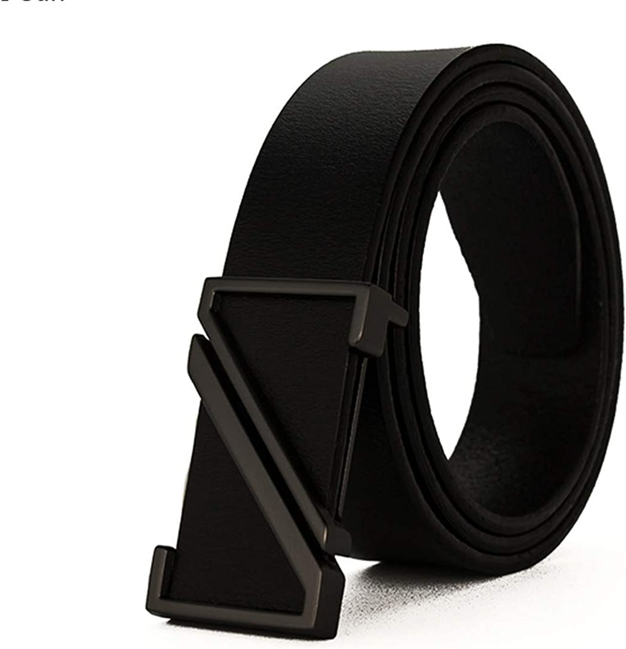 Mens single layer leather casual leather belt