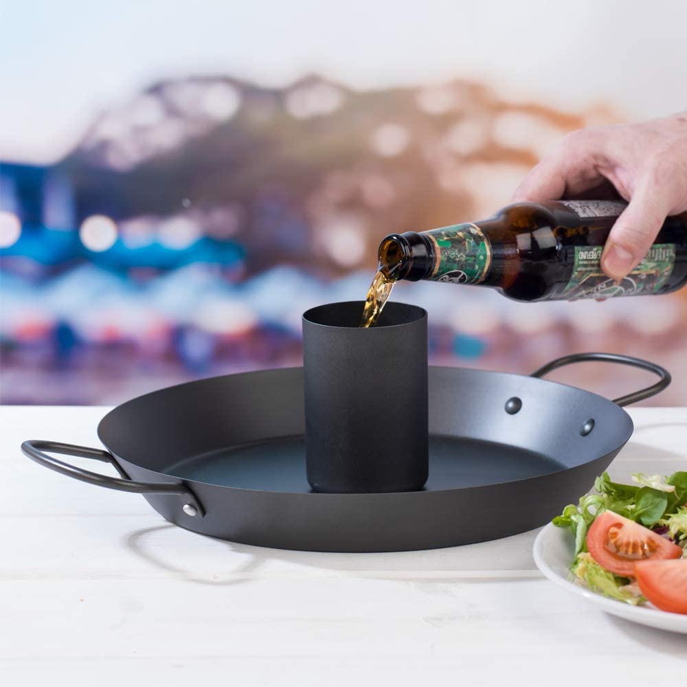 Jamie Oliver 552608 Get Inspired Non Stick 30 Cm Stainless Steel Black Beer Can Bbq Chicken Roaster Single Amazon Co Uk Kitchen Home